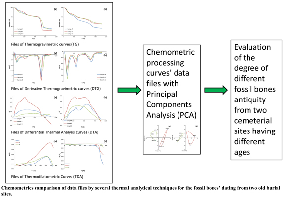 Chemometric Comparison of Data Files Using Several Thermal Analytical Techniques for Dating Fossil Bones from Two Old Burial Sites