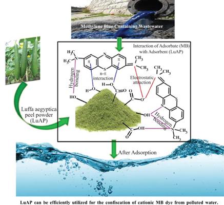 Fast and Effective Confiscation of Methylene Blue Dye from Aqueous Medium by <i>Luffa aegyptiaca</i> Peel