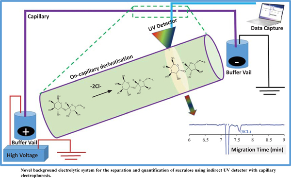 Separation of Sucralose in Food Samples using Amines as Background Electrolyte Supported with DFT Calculations