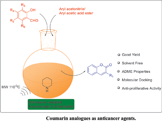 Synthesis, <i>In vitro</i>, and Docking Analysis of C-3 Substituted Coumarin Analogues as Anticancer Agents