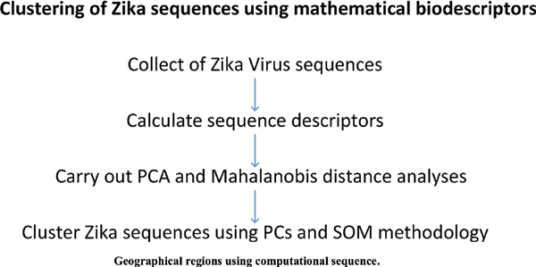 Clustering of Zika Viruses Originating from Different Geographical Regions using Computational Sequence Descriptors