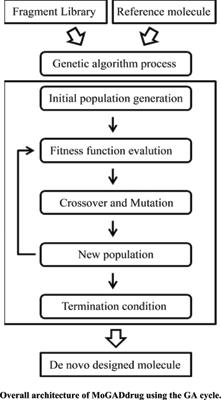 Multi-objective Genetic Algorithm for <i>De Novo</i> Drug Design (MoGADdrug)
