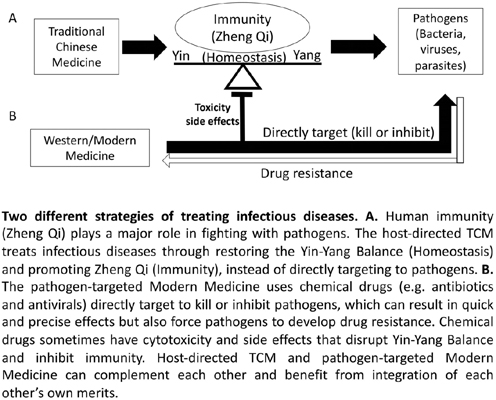 1+1 > 2: Integration of the Host-directed Traditional Chinese Medicine and the Virus-targeted Modern Medicine in Control of COVID-19