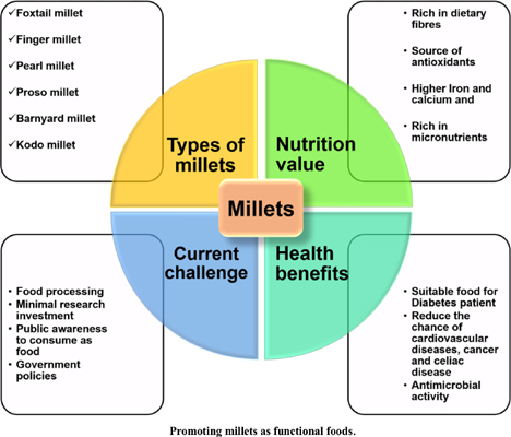 Genetics and Genomics Interventions for Promoting Millets as Functional Foods