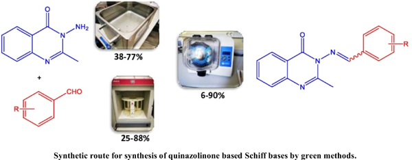 3-Amino-2-methylquinazolin-4-(3H)-one Schiff Bases Synthesis - A Green Chemistry Approach - A Comparison of Microwave and Ultrasound Promoted Synthesis with Mechanosynthesis