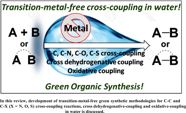 Transition-Metal-Free Synthetic Strategies for the Cross-Coupling Reactions in Water: A Green Approach