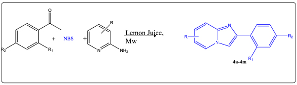 Microwave-promoted One-pot Synthesis of Imidazo[1,2-a]pyridines in Lemon Juice