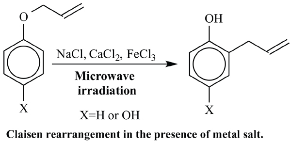 Microwave-assisted Claisen Rearrangement of 1-Allyloxy-4-hydroxybenzene in the Presence of Metal Salt