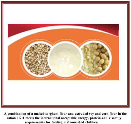 Formulation, Sensory Attributes and Nutrient Content of a Malted Sorghum-based Porridge: Potential for the Management of Moderate Acute Malnutrition among Infants and Young Children
