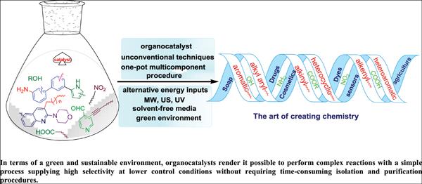 Organocatalyzed Heterocyclic Transformations In Green Media: A Review