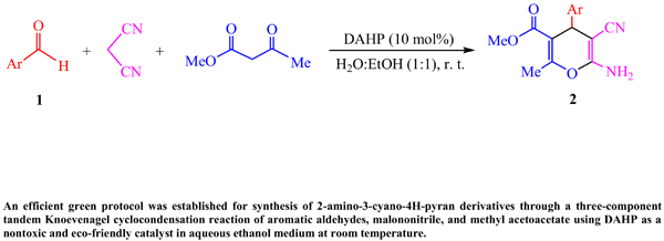 Three-Component Efficient Synthesis of 2-Amino-3-cyano-4H-pyrans Catalyzed by Diammonium Hydrogen Phosphate in Aqueous Media