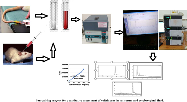 Development of Reverse Phase Ultra-fast Liquid Chromatography Using Ion-pairing Reagent for Quantitative Assessment of Ceftriaxone in Rat Serum and Cerebrospinal Fluid