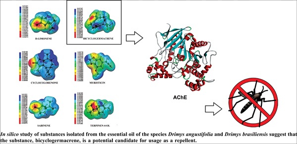 Molecular Modeling of Substances Isolated from the Essential Oil of the Species <i>Drimys angustifolia</i> and <i>Drimys brasiliensis</i>