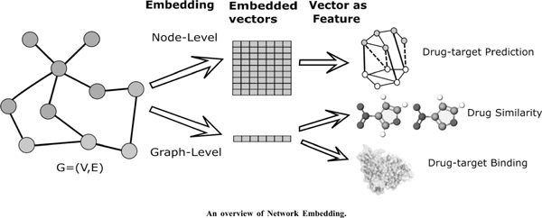 Survey of Network Embedding for Drug Analysis and Prediction