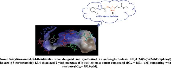 Design and Synthesis of Novel 5-Arylisoxazole-1,3,4-thiadiazole Hybrids as α-Glucosidase Inhibitors