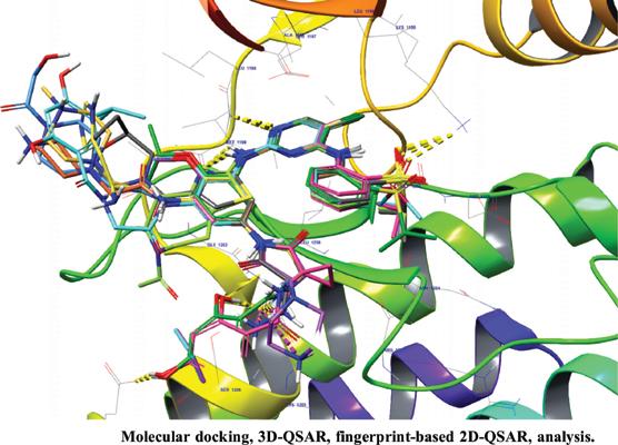 Molecular Docking, 3D-QSAR, Fingerprint-Based 2D-QSAR, Analysis of Pyrimidine, and Analogs of ALK (Anaplastic Lymphoma Kinase) Inhibitors as an Anticancer Agent