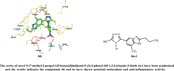 Design, Synthesis, Antioxidant, Anti-inflammatory Activity and Molecular Docking Studies of Novel 3,4,5-Trisubstituted-1,2,4-Triazole Derivatives Bearing Benzimidazole Moiety
