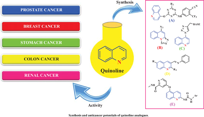 The Synthesis and Anticancer Potentials of Quinoline Analogues: A Review of Literature